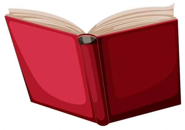 Um livro vermelho sobre fundo branco Vetor grátis