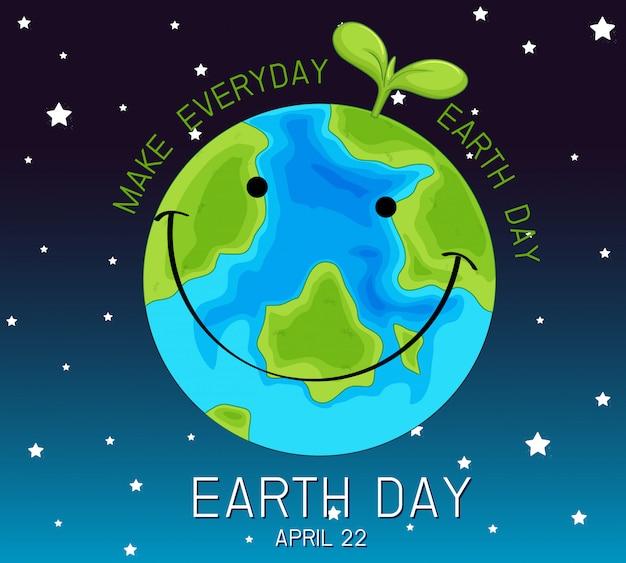 Um logotipo do dia da terra Vetor grátis