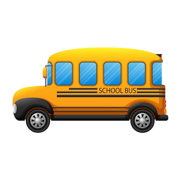 Um ônibus escolar Vetor Premium