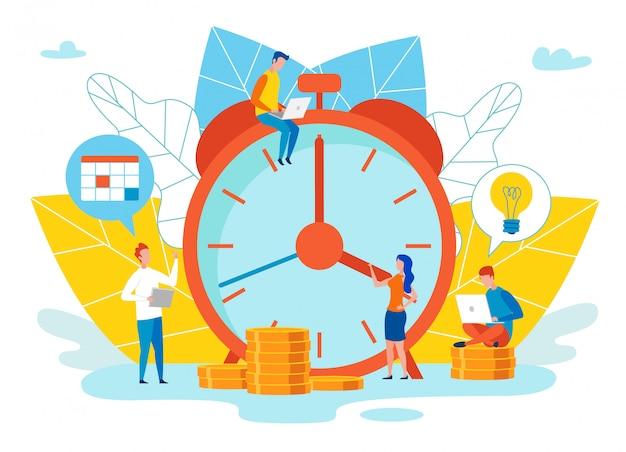 Um prazo final de possibilidades de avaliação objetiva. Vetor Premium