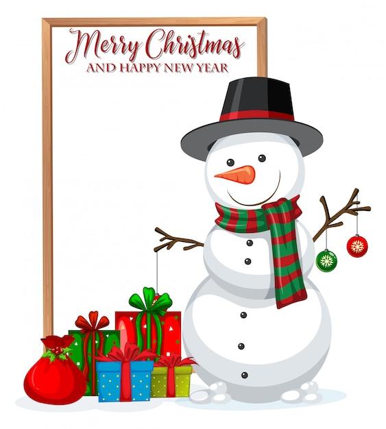 Um quadro de christmad feliz Vetor grátis