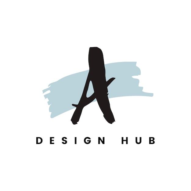 Um vetor de logotipo de hub de design Vetor grátis
