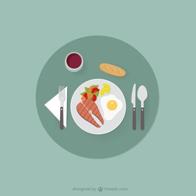 Uma alimentação saudável Vetor grátis