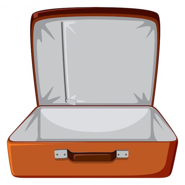 Uma bagagem vazia em branco Vetor grátis
