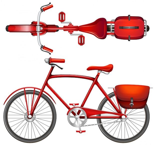 Uma bicicleta vermelha Vetor grátis