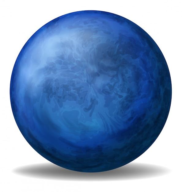 Uma bola azul Vetor grátis