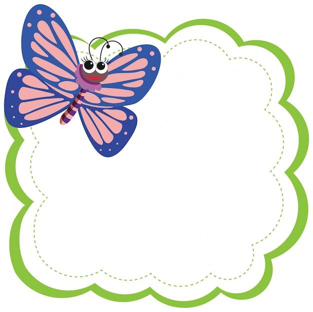 Uma borboleta em nota Vetor Premium