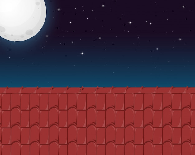 Uma casa telhado vista Vetor grátis