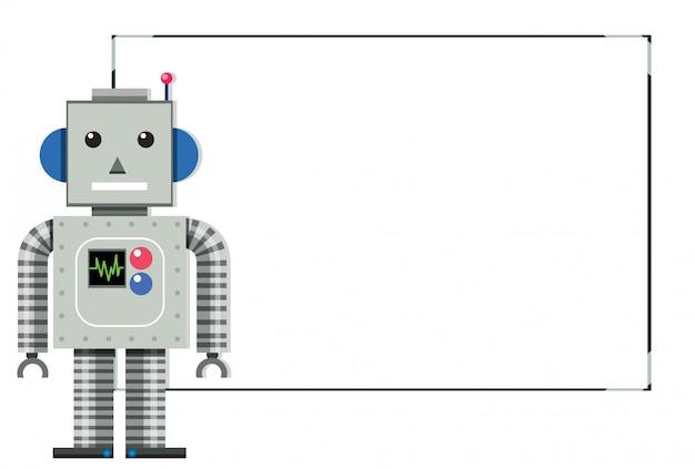 Uma faixa branca de robô moderno Vetor grátis