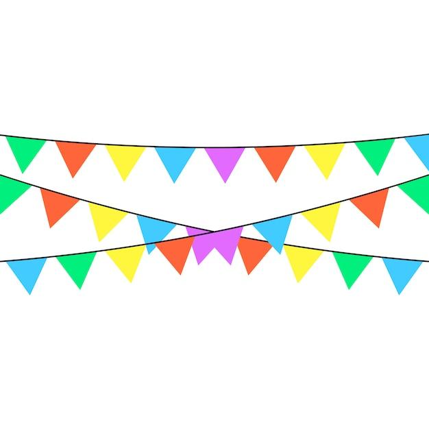 Uma fita do feriado com muitas matiz de cores diferentes é descrita em um fundo branco. Vetor Premium