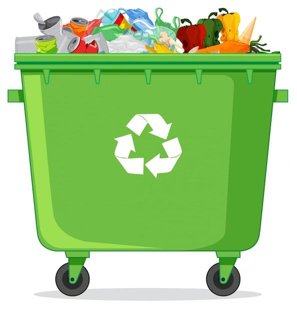 Uma lixeira de reciclagem Vetor grátis