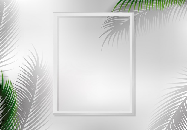 Uma natureza folha quadro copyspace Vetor grátis