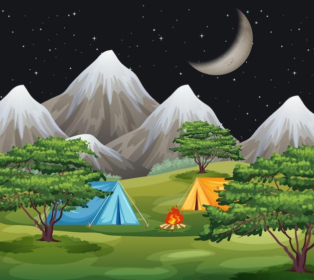 Uma paisagem campestre natural Vetor grátis