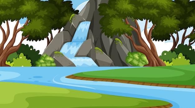 Uma paisagem natural simples Vetor Premium