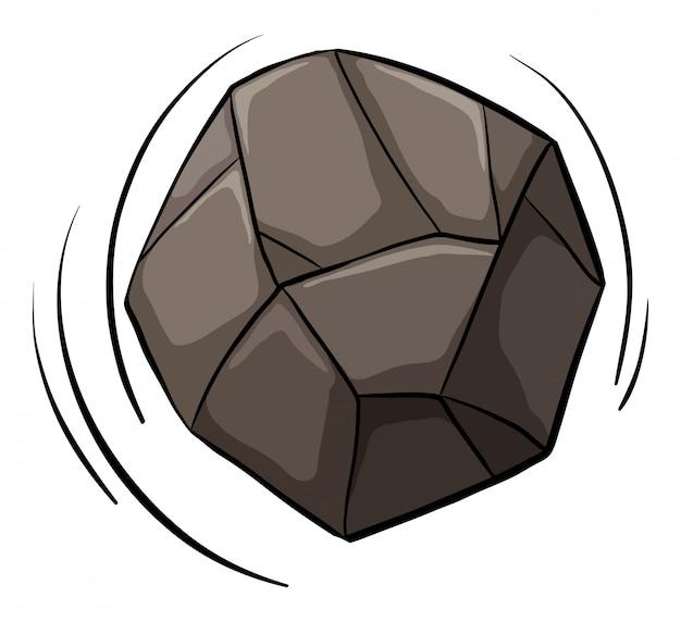 Uma pedra rolando Vetor grátis