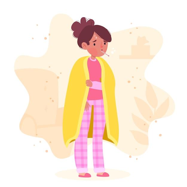 Uma pessoa com um design frio Vetor grátis