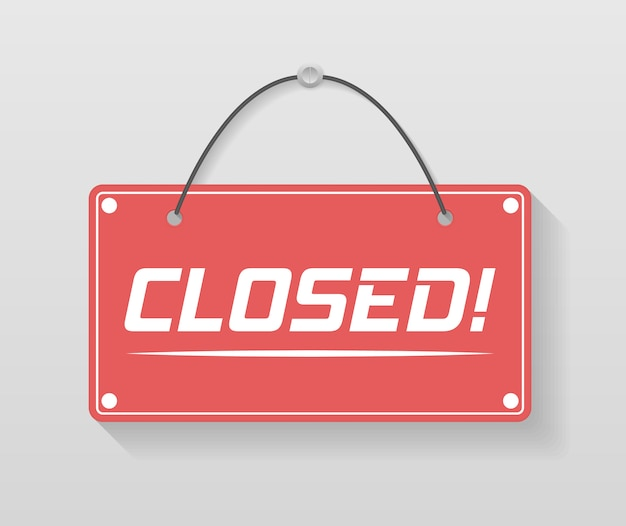 Uma placa de negócios que diz entre, estamos abertos. quadro indicador com uma corda. imagem de vários sinais de negócios abertos e fechados. ilustração, . Vetor Premium