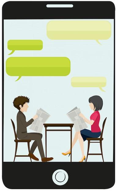 Uma reunião de negócios Vetor grátis