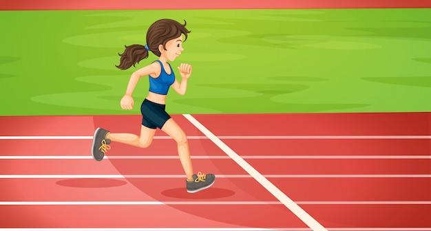 Uma senhora correndo Vetor grátis