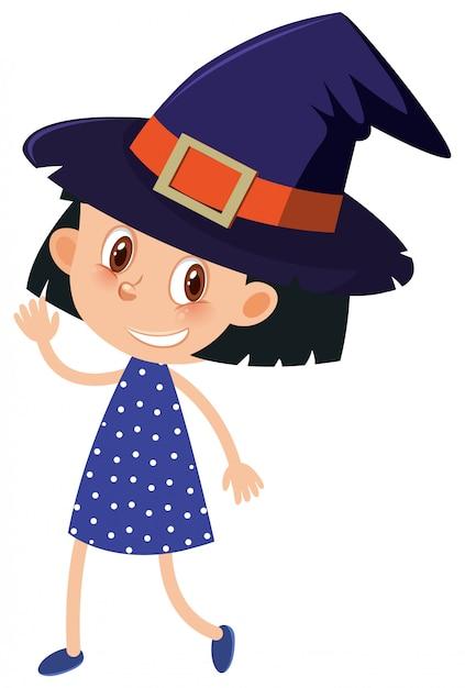 Único personagem da garota em branco Vetor Premium