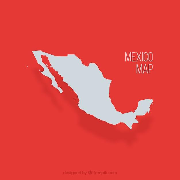 Unidos mexicanos mapa vector Vetor grátis
