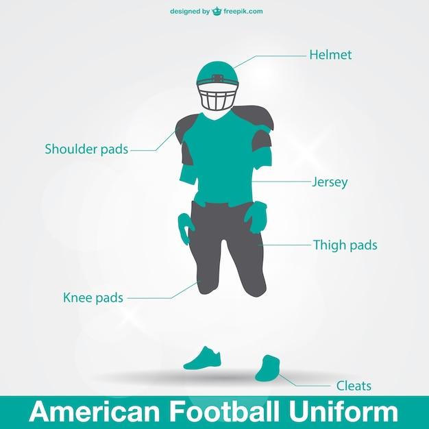 Uniforme de futebol americano  b08a0ec3d68e1