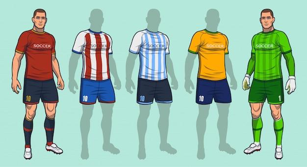 Uniforme de futebol / futebol Vetor Premium