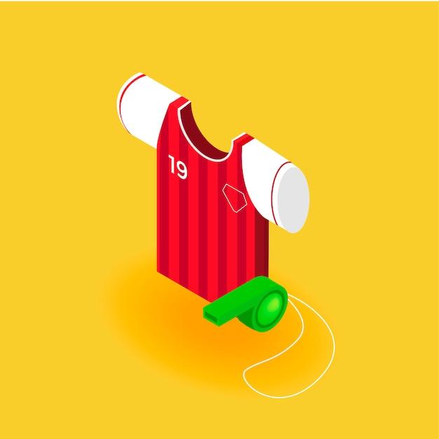 Uniforme de futebol Vetor grátis
