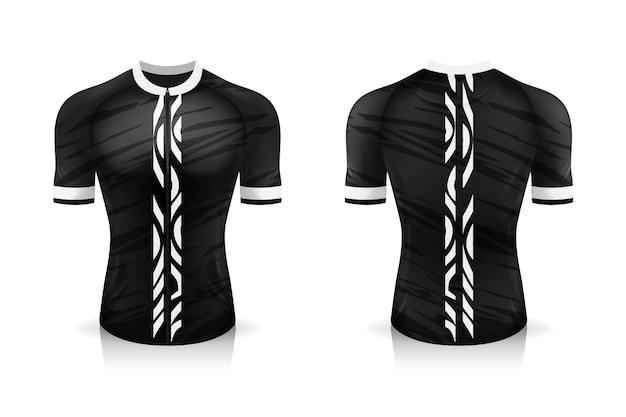 Uniforme de gola redonda sport t shirt para vestuário de bicicleta. Vetor Premium