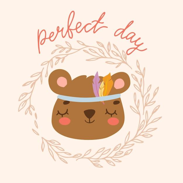 Urso dia perfeito Vetor grátis
