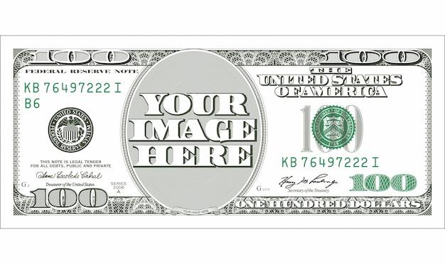 Us dollar bill Vetor Premium