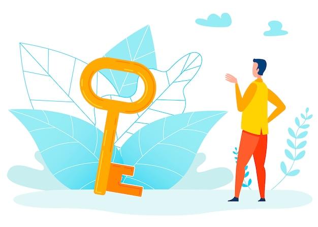 Usando a ilustração de metáfora de oportunidades Vetor Premium