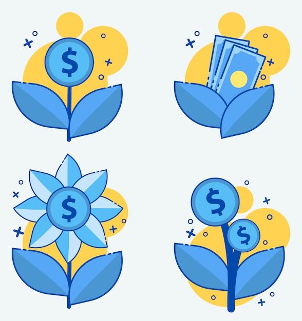 Usura dinheiro, juros, ícone do vetor Vetor Premium