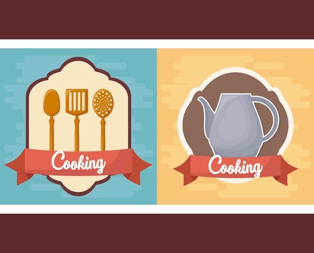 Utensílios de cozinha Vetor grátis