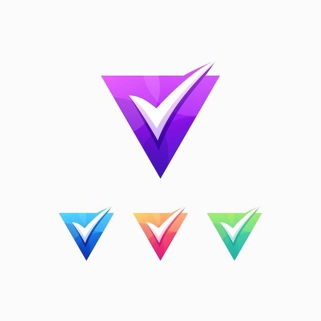 V lista de verificação lista de escolha correta Vetor Premium