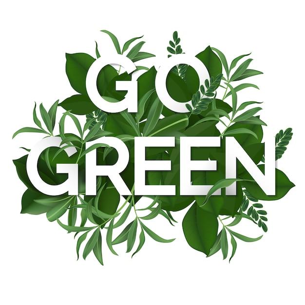 Vá dia verde Vetor Premium
