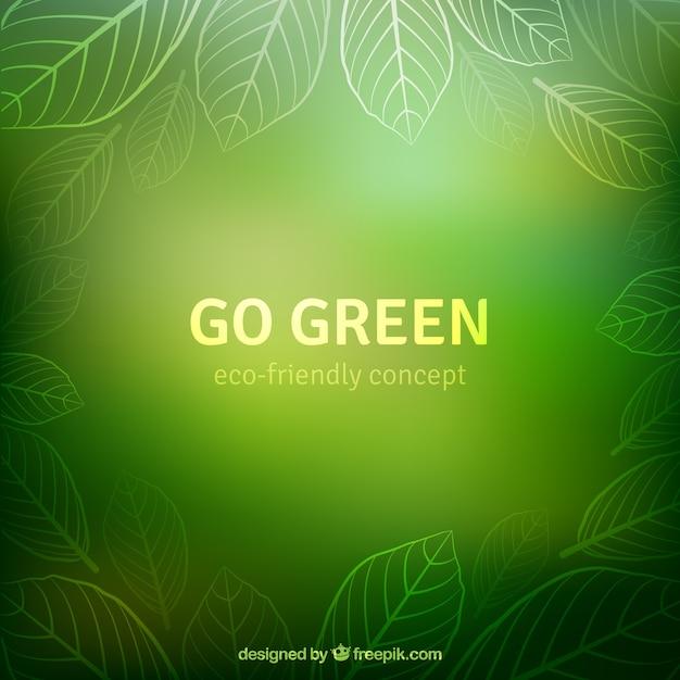 Vá fundo verde Vetor grátis