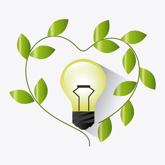 Vai o design verde da ecologia Vetor grátis