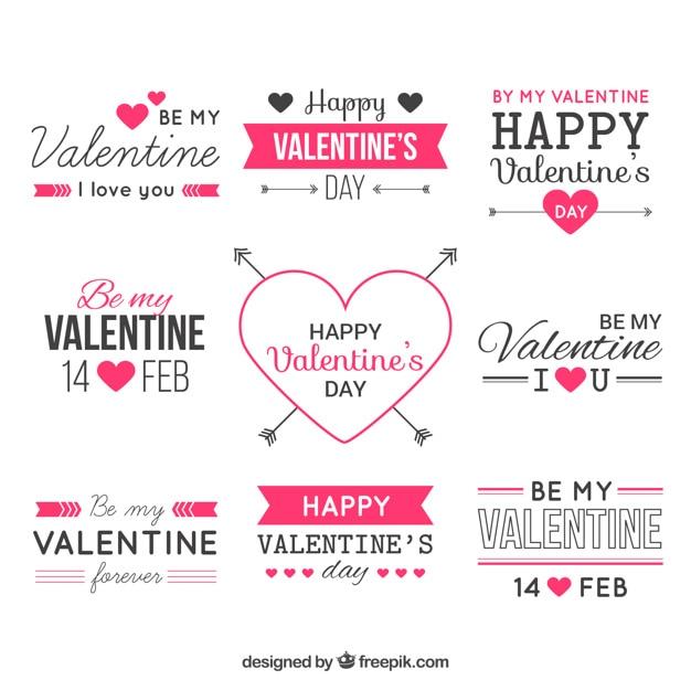 Valentine elementos de design vector Vetor grátis