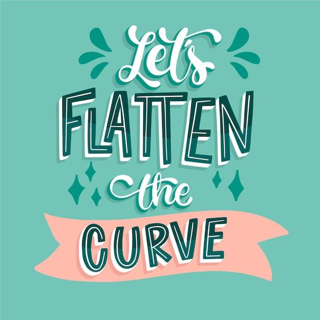 Vamos achatar as letras da curva Vetor grátis