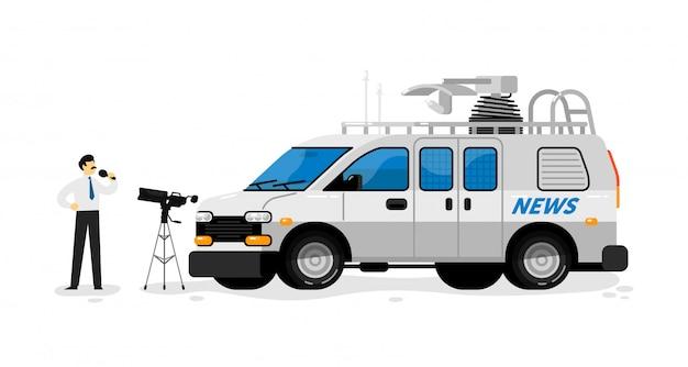 Van de transmissão. transmissão Vetor Premium