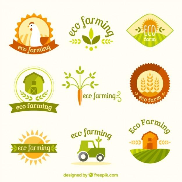 variedade bonito de logotipos de fazenda baixar vetores premium. Black Bedroom Furniture Sets. Home Design Ideas