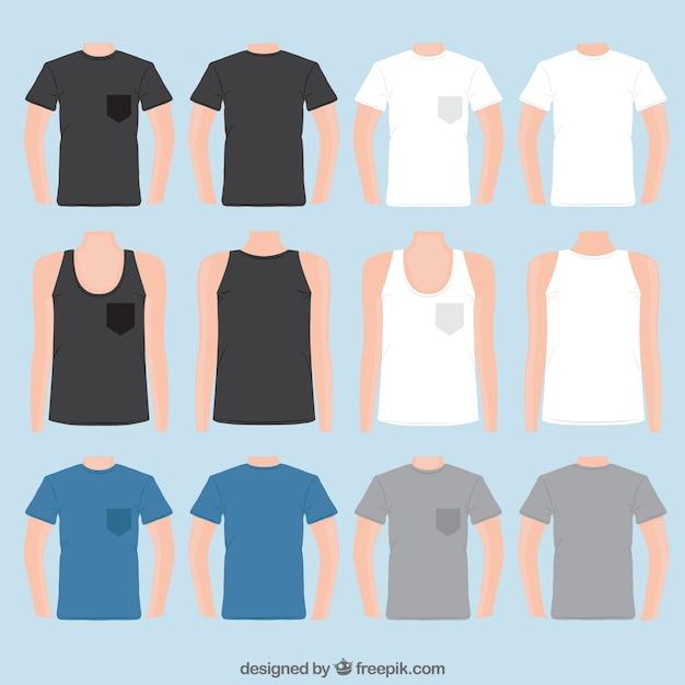 Variedade de camisetas Vetor grátis