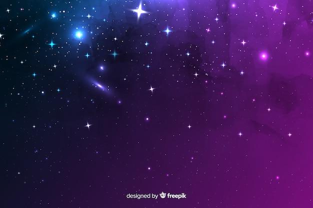 Variedade de elementos cósmicos em um fundo de noite Vetor grátis