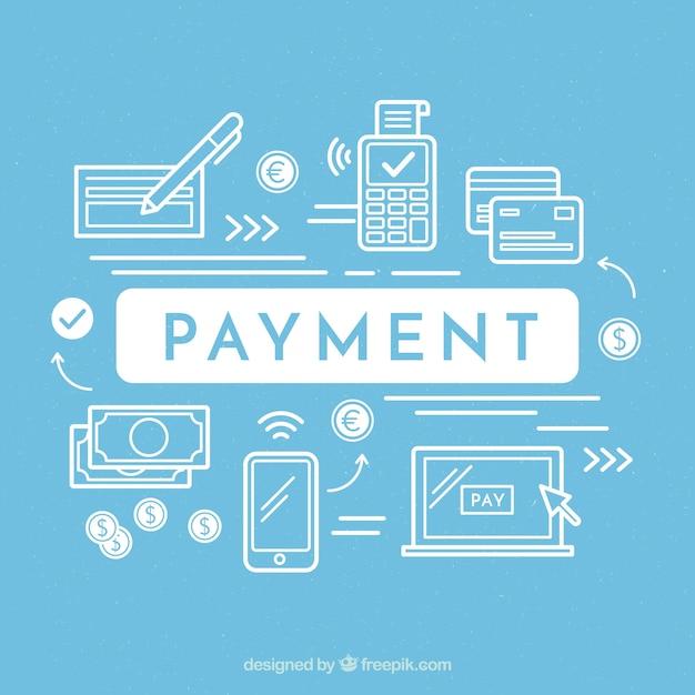 Variedade moderna de métodos de pagamento Vetor grátis
