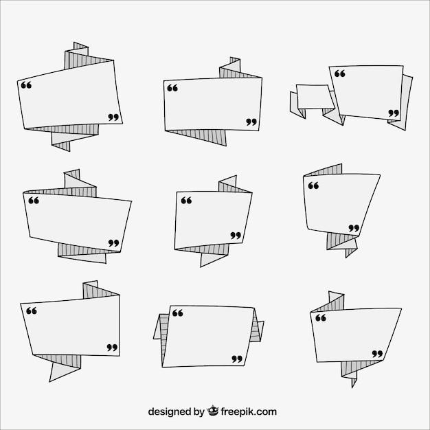 Vários rótulos geométricas pronto para escrever mensagens Vetor grátis