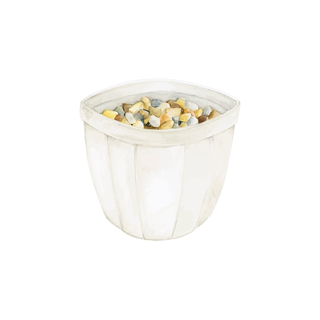 Vaso de mão desenhada isolado no fundo branco Vetor grátis