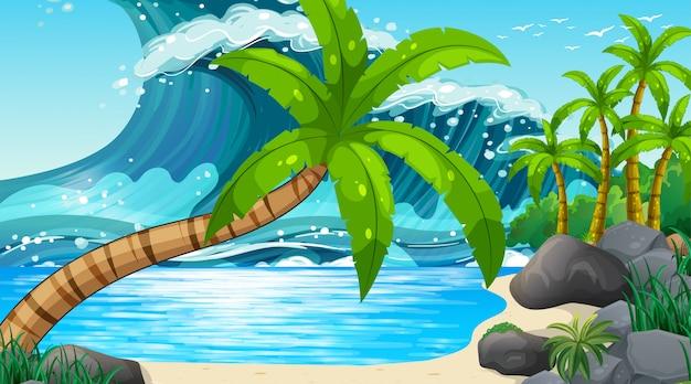Vazio natureza praia oceano paisagem costeira Vetor grátis