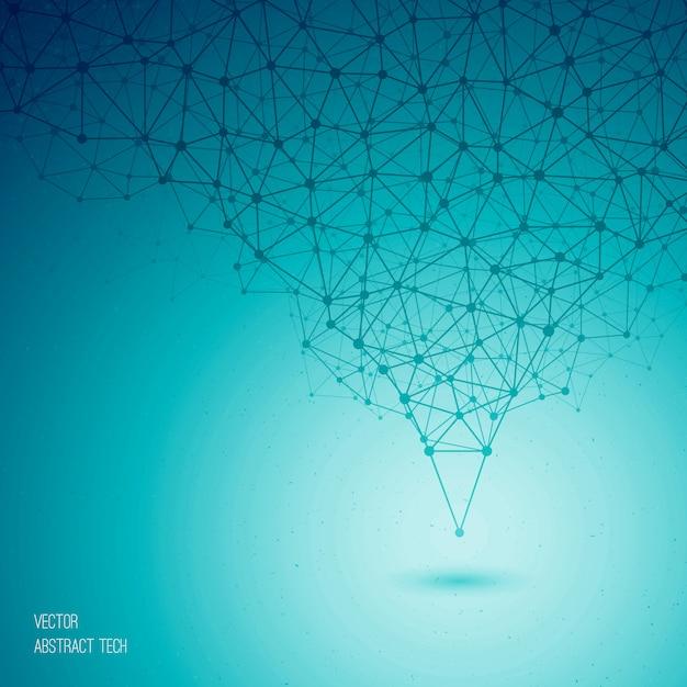 Vector azul abstrato tecnológico Vetor Premium