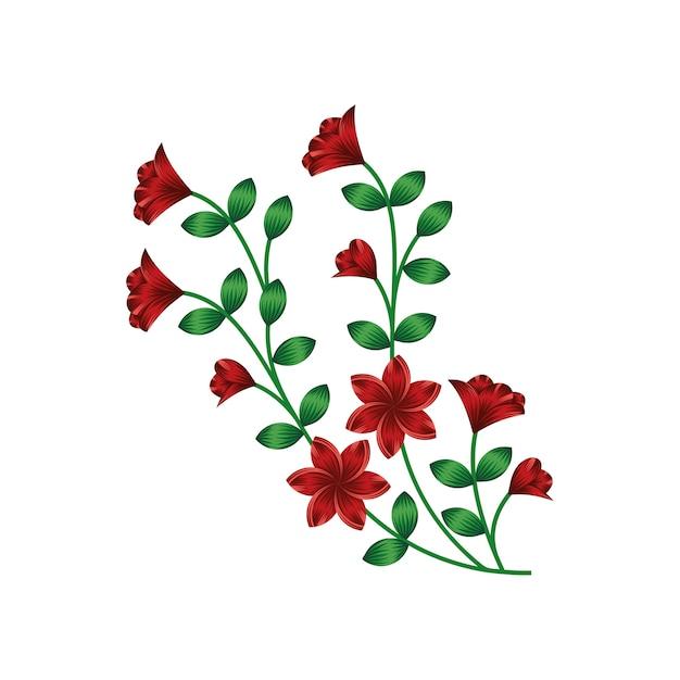 Vector background flor floral design ilustração Vetor Premium